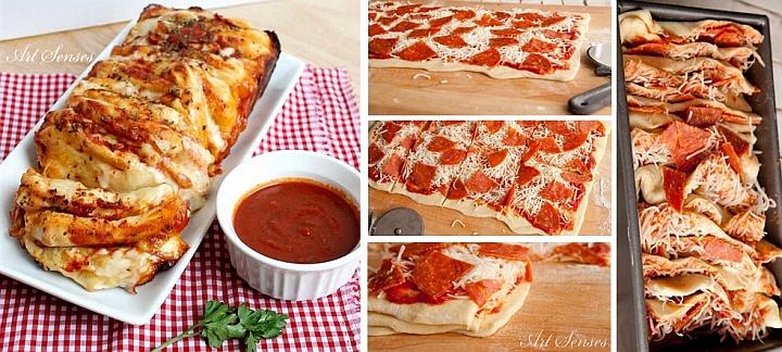 په پوړونو کې خوندور پیزا