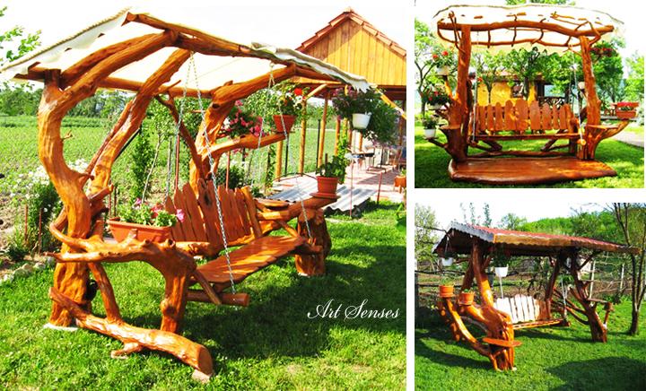花园秋千和长凳的想法