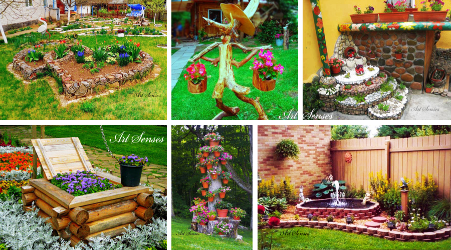 Artistic ideas for a garden