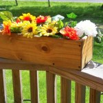 Wooden flower boxes