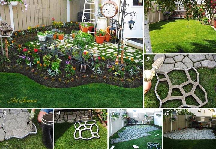Идея за градинска настилка