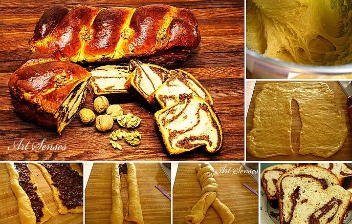 Cozonac - Anacardio rumeno con noci, uvetta e cacao