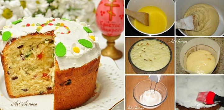 """ເຂົ້າ ໜົມ ເຄັກ Easter ຂອງລັດເຊຍ """"Kulich"""""""