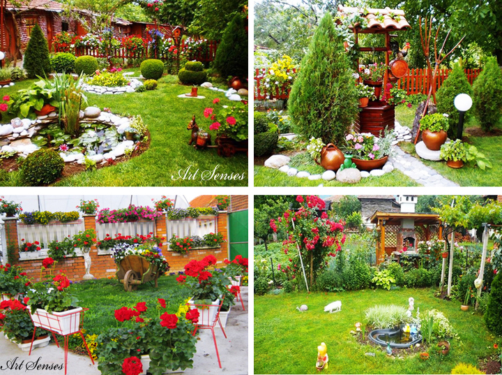 Garden ideas - decorations and decoration