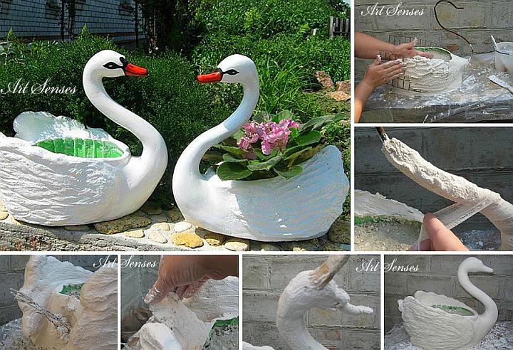 Plastikschwangartenschwan