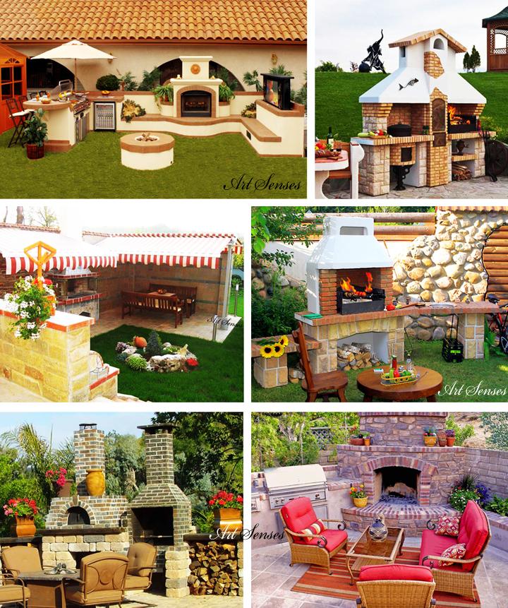 Ιδέες για μπάρμπεκιου και φούρνο στον κήπο