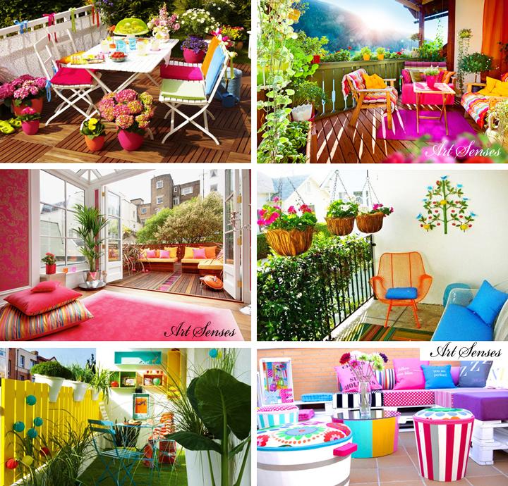 Цветни идеи за тераса