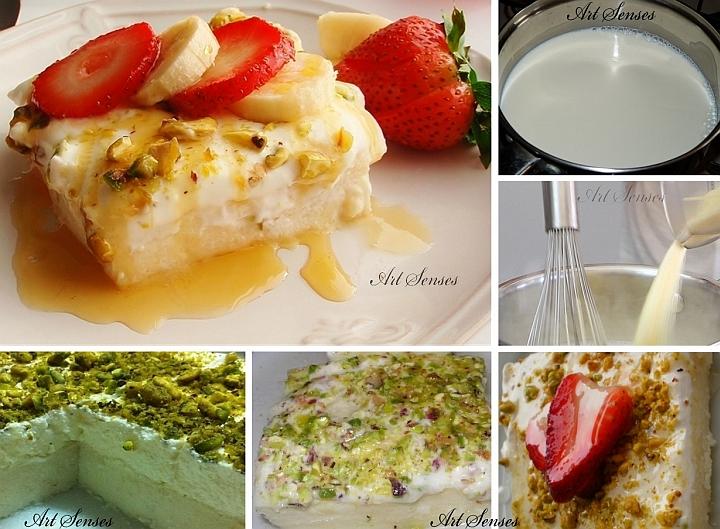 """Превъзходен, бърз и лесен сладкиш """"Ливански нощи"""" (Layali Lubnan)"""