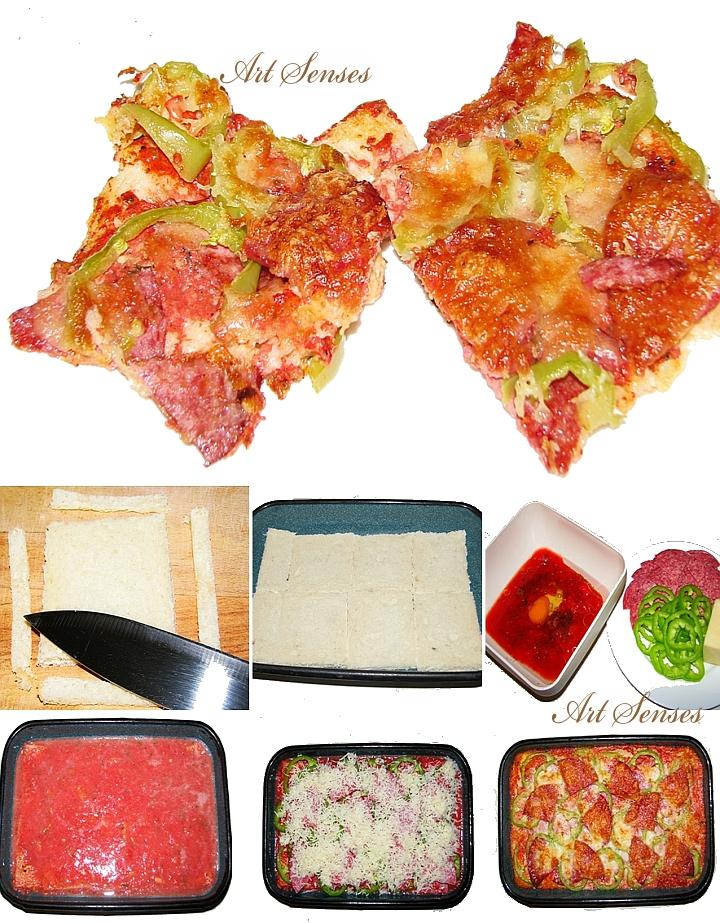 Pizza de pan rápida, fácil y deliciosa