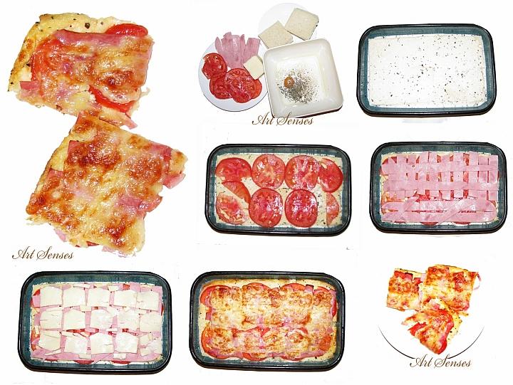 Gyors, egyszerű és finom kenyér pizza