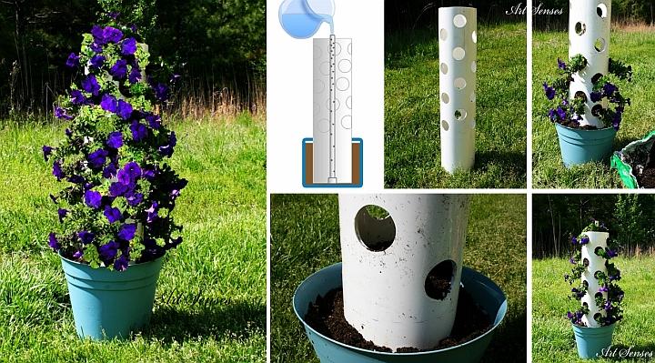 Направи си сам вертикална градинка от петунии за дома