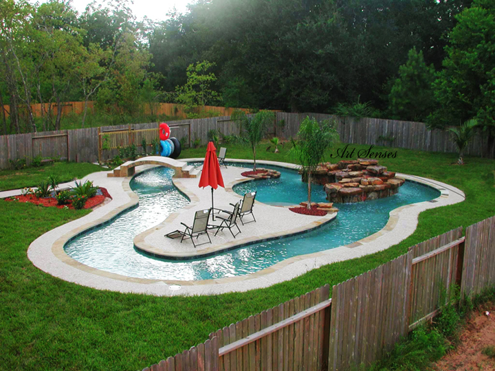 Idea for a pool in the garden