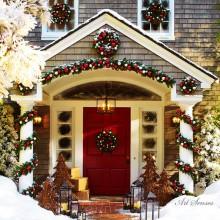 Decorațiuni de Crăciun în aer liber