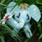 Korištene plastične boce umjetnosti ili PET-art (8)