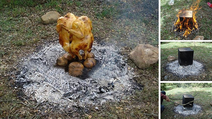 Пилешко барбекю на открито