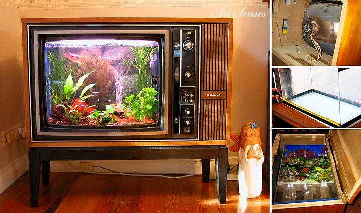 Направи си аквариум от стар телевизор