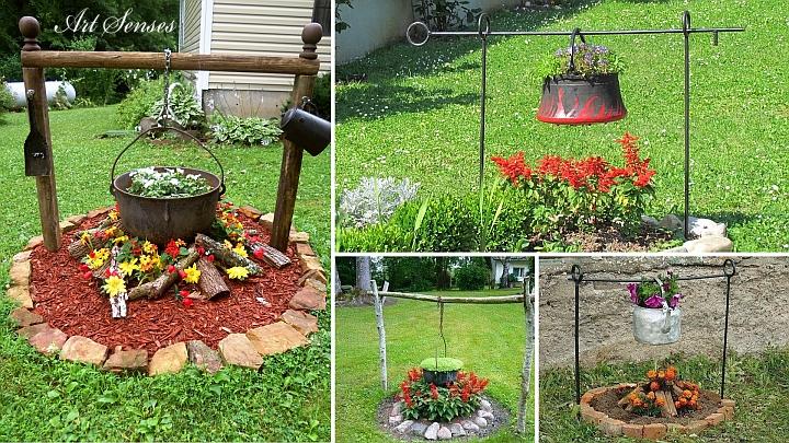 """Idea per la decorazione del giardino """"pentola bollente"""""""