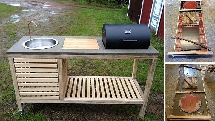 Crea una cucina da giardino temporanea - barbecue
