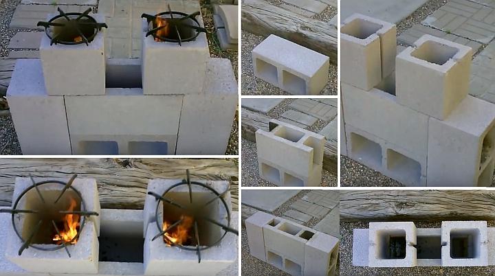 Napravite vlastitu vrtnu ploču od betonskih blokova