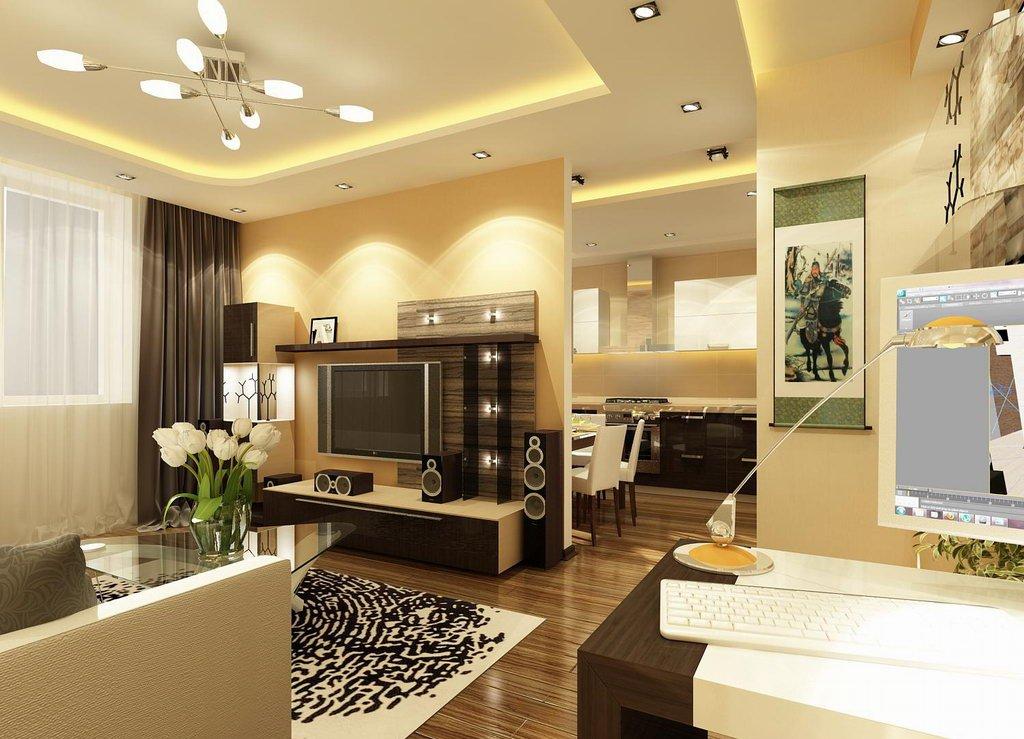 интерьере дизайн потолков в небольшой комнате студии фото этом
