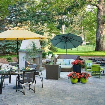 Идеи за чадър в градината