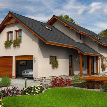 Къща с 4 спални, мансарда и голям гараж