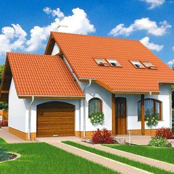 Компактна къща с 3 тавански спални и гараж