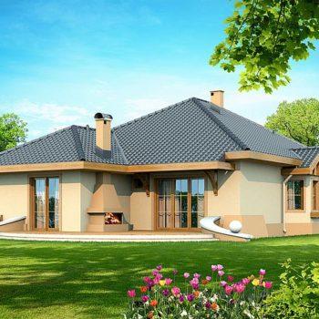 Прекрасна едноетажна къща с 3 спални и гараж на 122кв.м.