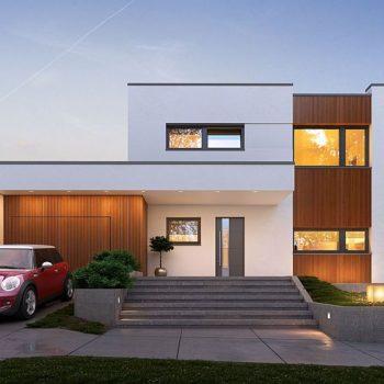Модерна кубична къща с 4 спални и гараж