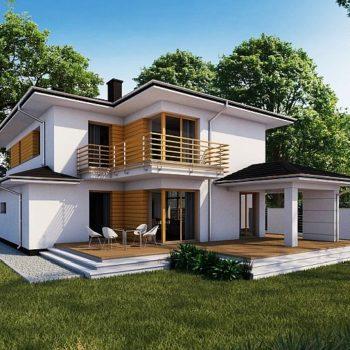 Стилна двуетажна къща с 5 спални и гараж