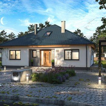 Красива и практична едноетажна къща с 3 спални на 120 кв.м.