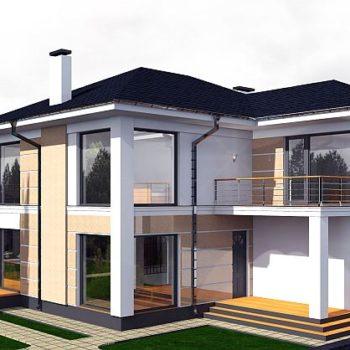 Проект на прекрасна двуетажна къща с 4 спални и двоен гараж