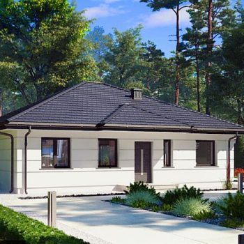 Проект на компактна къща с три спални