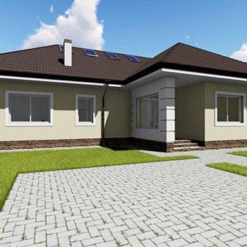 Проект на практична къща с таванско ниво и 4 спални