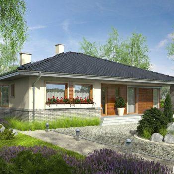 Прекрасен проект на едноетажна къща с 3 спални и таванско помещение