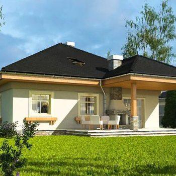 Проект на прекрасна едноетажна къща с таванско пространство