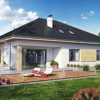 Проект на къща с мансарда и 132кв.м. жилищна площ на първи етаж