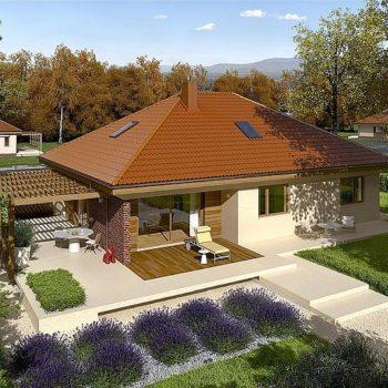 Проект на къща с две спални, гараж и таванско помещение