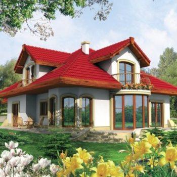 Проект на красива къща с гараж и мансарда