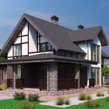 Дизајн дивне куће са верандом, гаражом и 6 спаваћих соба