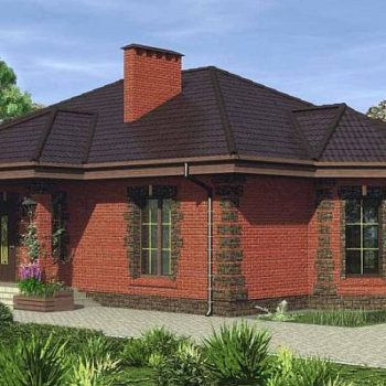 Дизајн за циглану једноспратну кућу са три спаваће собе