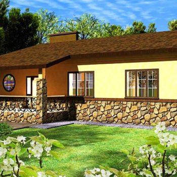 Пројекат за једнокатницу трособне куће од 3м125.