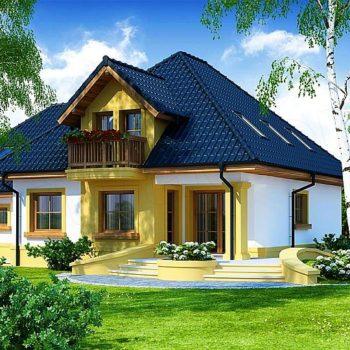 다락방이있는 집의 독특한 프로젝트-5 개의 침실과 차고