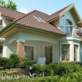 Диван пројекат мансардне куће и 4 спаваће собе