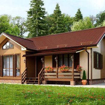 Дизајн прекрасне двособне дрвене куће