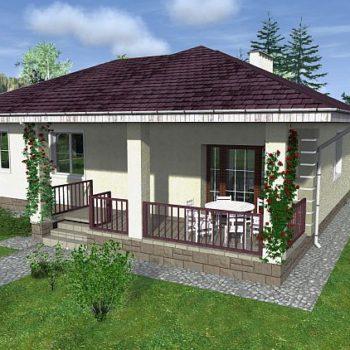 94 평방 미터의 침실 XNUMX 개가있는 XNUMX 층짜리 주택 프로젝트.