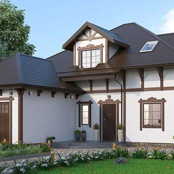 Nádherný projekt domu s podkrovím, garáží a mnoha pokoji