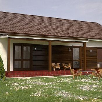 Perfect project of a beautiful compact house with 2 bedrooms