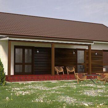 Dokonalý projekt krásného kompaktního domu se 2 ložnicemi