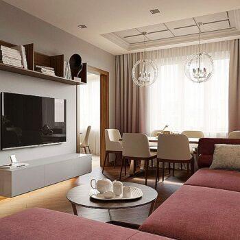 Interiérový design s prvky art deco bytu o rozloze 108 mXNUMX.
